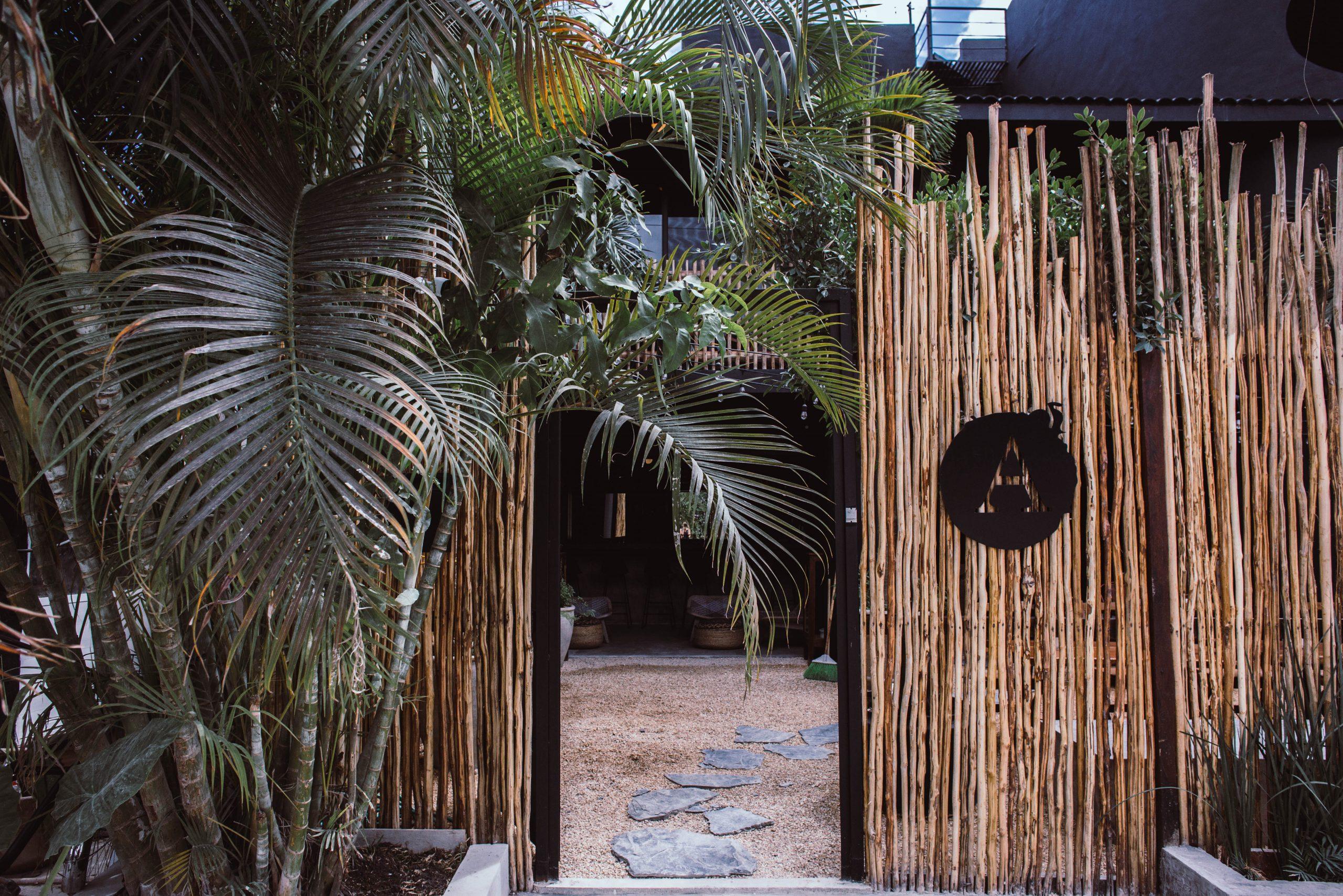 Entrada Principal Hotel Aroma Tulum